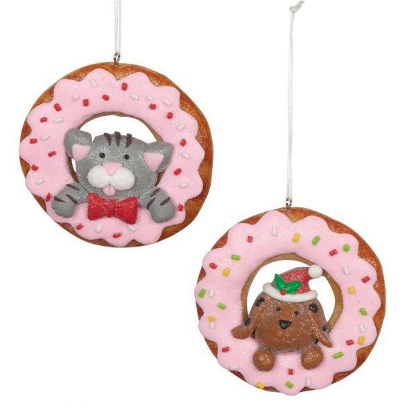 Baumschmuck Donut 8cm