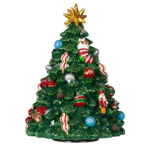 Mechanische Spieluhr Weihnachtsbaum 17cm