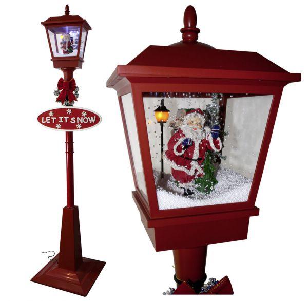 Schneiende LED Laterne 180cm Motiv Santa