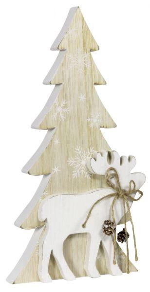 Tischdeko Baum mit Elch 13cm