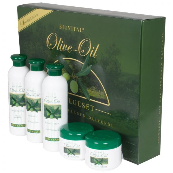 Olivenöl Pflegeset 5tlg - Europäische Produktion