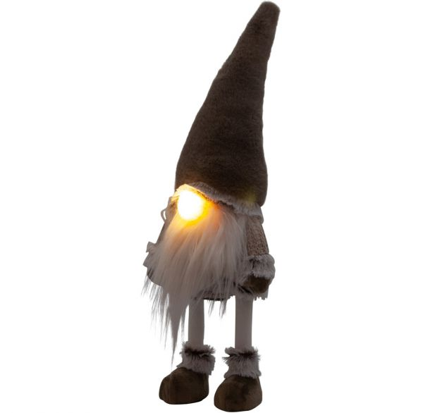 LED Wackel-Gnom leuchtend 45cm