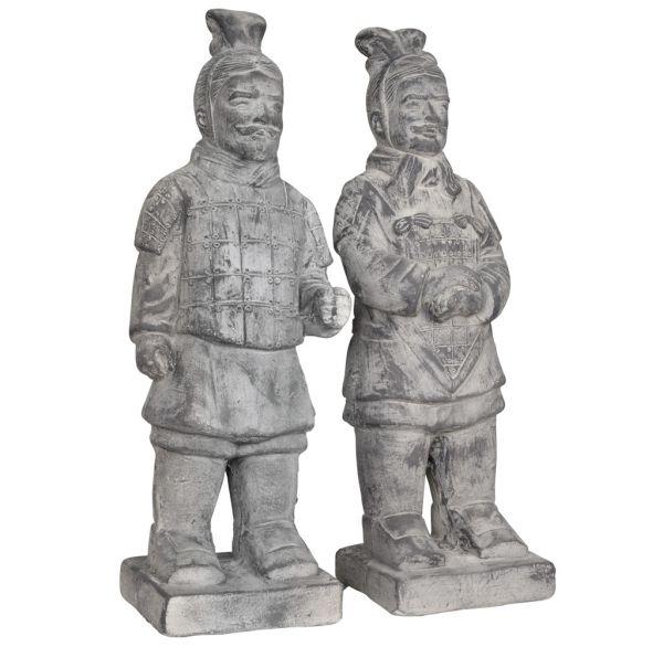 Gartenfigur Terrakotta Krieger stehend 50cm