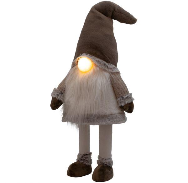 LED Wackel-Gnom leuchtend 70cm