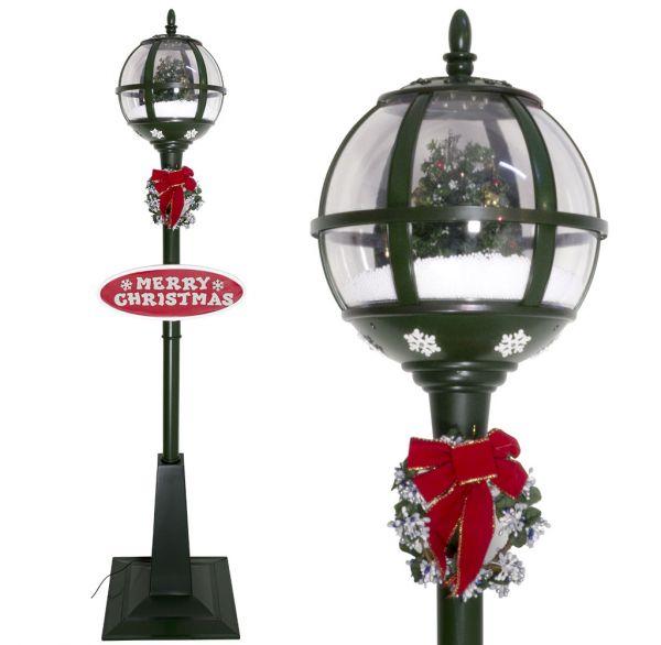 Schneiende LED Laterne 175cm Motiv Baum