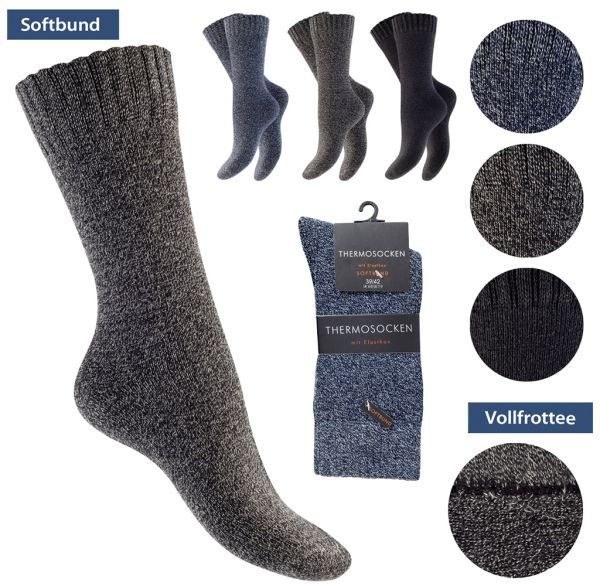 Thermo Baumwollsocken Herren 3er Pack